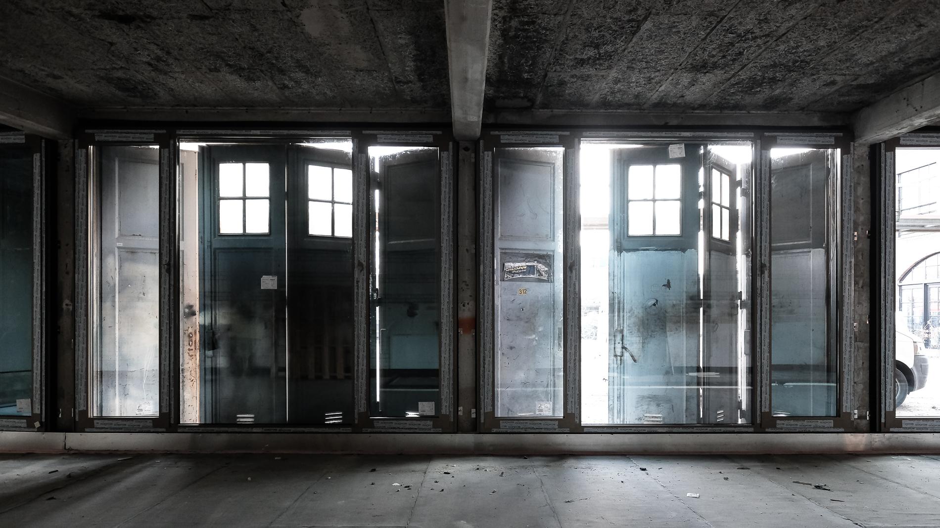 Garagengebäude während des Umbaus